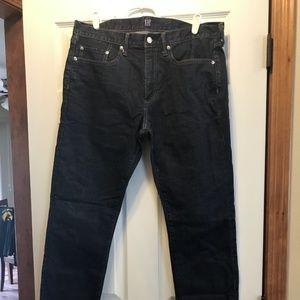 Mens Gap Slim Fit Jeans size 34x32 Dark wash- EUC!